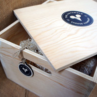 Wooden Winebox Hamper (6 bottle) - personalised (full colour printed graphics - from £14.00 each plus VAT)