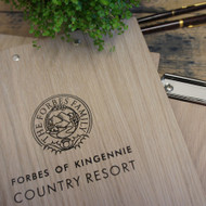 Branded Wooden Clipboards with engraving