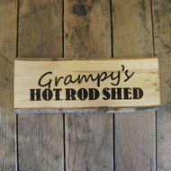 Rustic Wooden Gift Signs - artwork engraved into a silver birch wood slice (with bark on)