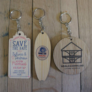 Printed Wooden Promotional Keyrings
