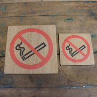 """Wooden """"No Smoking"""" Printed Signs - Wooden Health & Safety Signs"""