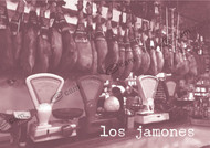 Spanish Bar - Los Jamons Wooden Photo Print