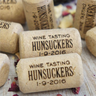 Engraved and Personalised Corks - an ideal party or wedding favour.  Ideal cork event favors.