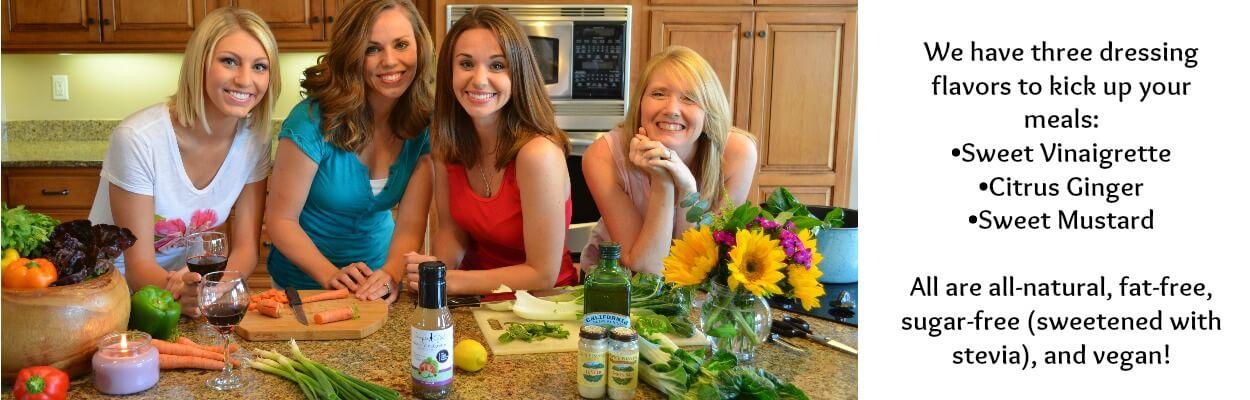 Simple Girl Sugar-free(sweetend using stevia), all-natural Vinaigrette dresing