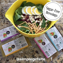 Customer repost of our 3 sugar-free dressings and our 1 very low sugar dressing packets. Great on salads or for marinading!