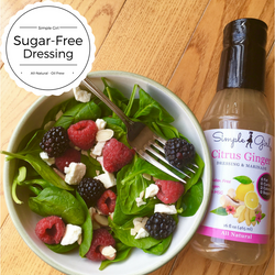 Citrus Ginger sugar-free and all-natural dressing great on salads for clean eating or diets.