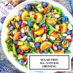 Wow! Gorgeous fruit salad posted by @americasgfsweetheart topped with Simple Girl's Citrus Ginger all-natural and sugar-free dressing!