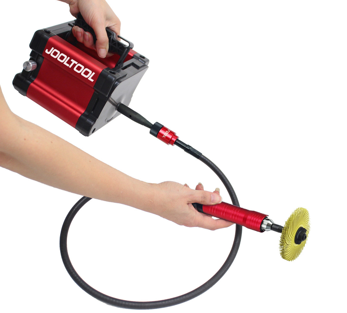 jooltool. use the 3m bristle brushes with quick-screw brush adaptor (sold separately) jooltool