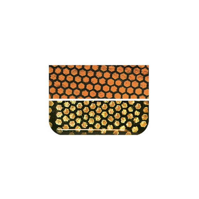 Fuseworks Dichroic Honeycomb Orange Glass - 50 x 76mm