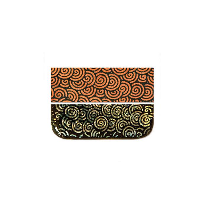 Fuseworks Dichroic Spiral Orange Glass - 50 x 76mm
