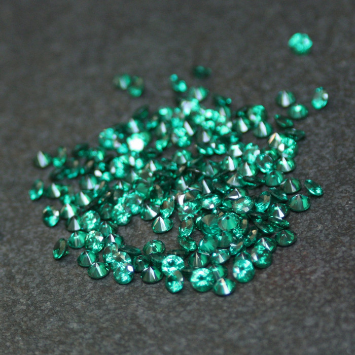 Lab Created Gemstone - Emerald Round 4mm (Non-fireable)