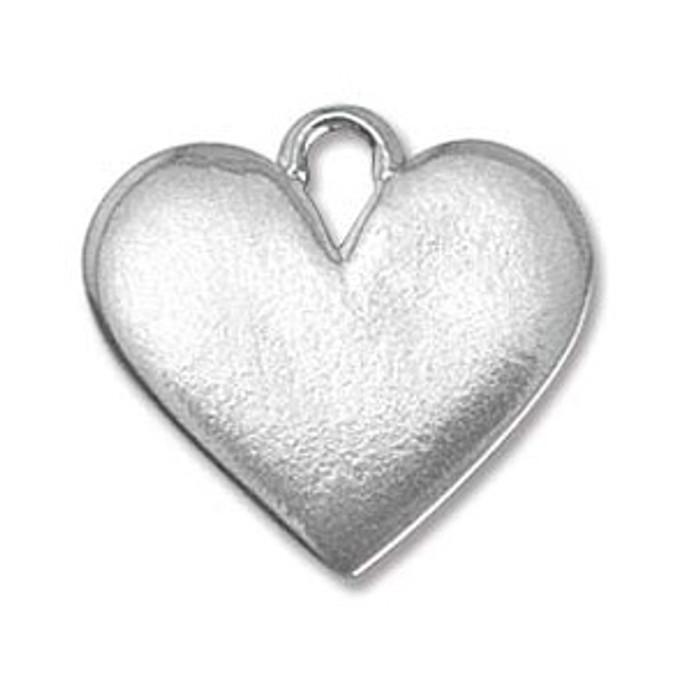 """Pewter Blank Heart 3/4"""""""