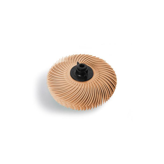 "JoolTool Essentials: 3M Radial Bristle Brush 3"" - 6-ply, Peach/Beige 6 Micron"