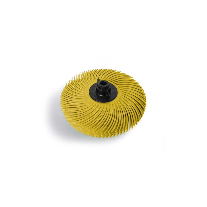 "JoolTool Essentials: 3M Radial Bristle Brush 3"" - 6-ply, Yellow 80 Grit"