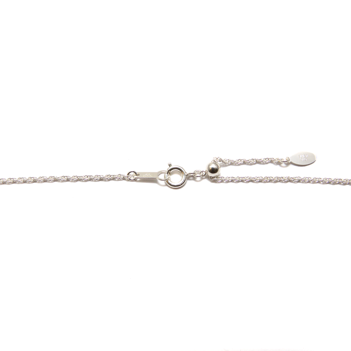 Finished Adjustable Rope Chain - Sterling Silver - 60cm