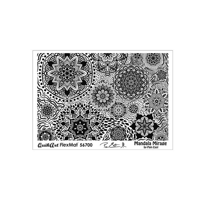 Pam East FlexMat Texture Stamp - Mandala Mirage