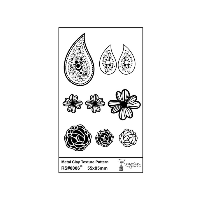 RS Laser Texture Paper - Pendant & Earring Set