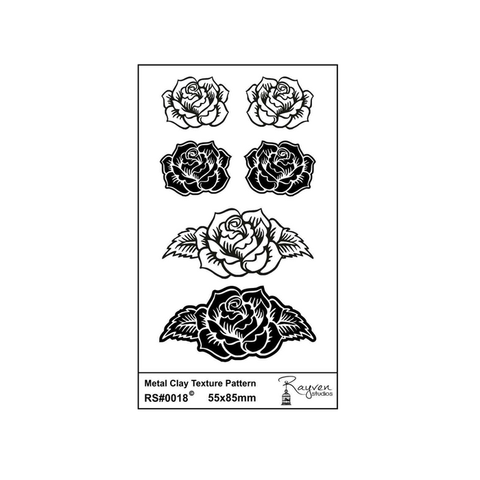 RS Laser Texture Paper - Roses Pendant & Earring Set