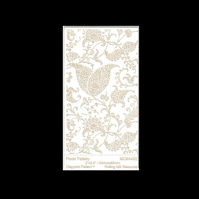 RMR Laser Texture Paper - Floral Paisley - 50 x 89mm