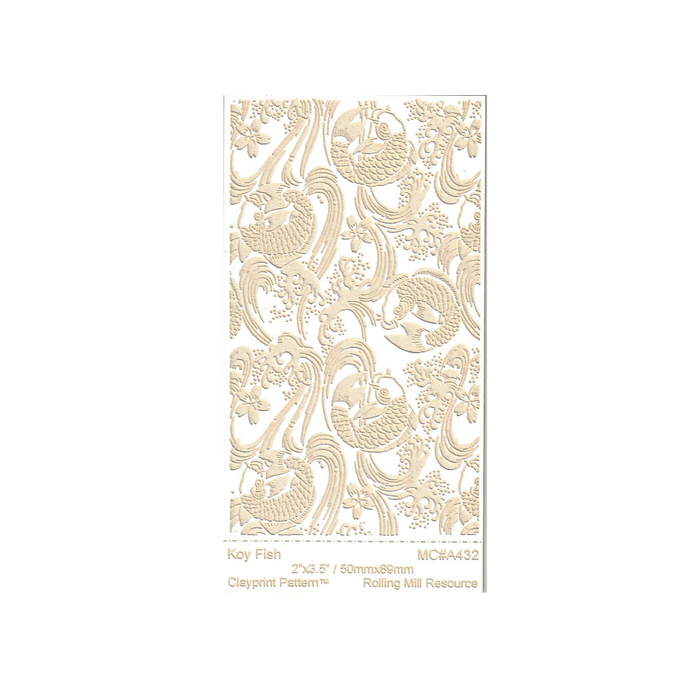 RMR Laser Texture Paper - Koy Fish - 50 x 89mm