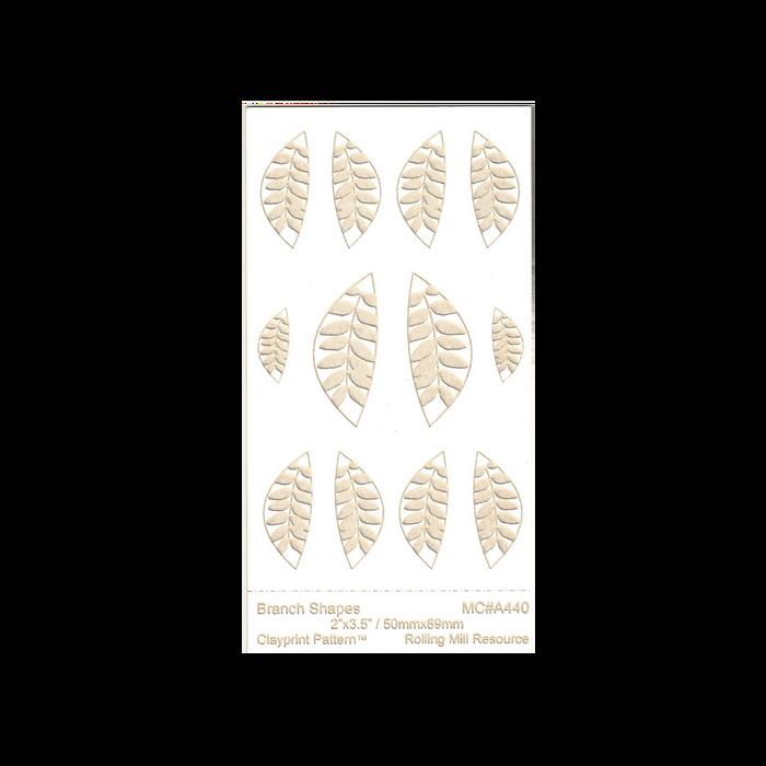 RMR Laser Texture Paper - Branch Shapes - 50 x 89mm