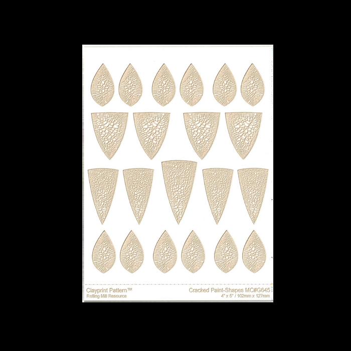 RMR Laser Texture Paper - Cracked Paint Shapes - 102 x 127mm