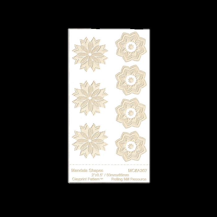 RMR Laser Texture Paper - Mandala Shapes - 50 x 89mm
