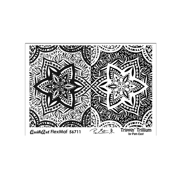 Pam East FlexMat Texture Stamp - Trippin Trillium