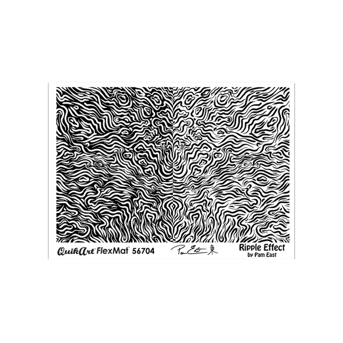 Pam East FlexMat Texture Stamp - Ripple Effect