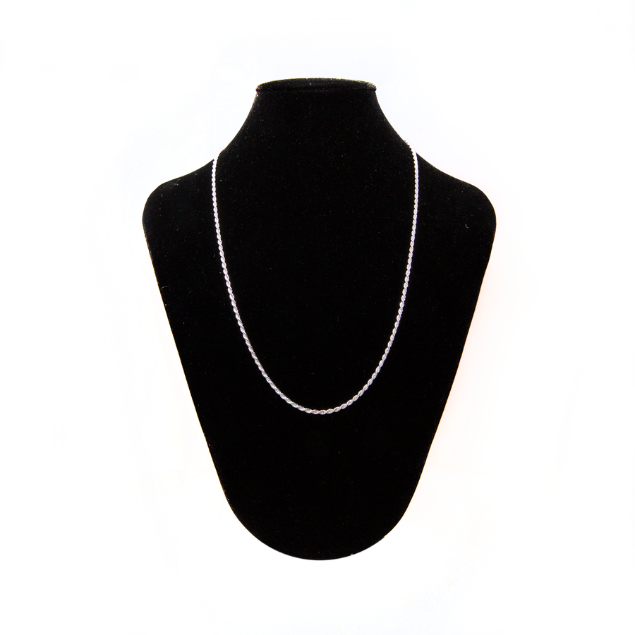 Finished French Rope Chain - Sterling Silver - 50cm