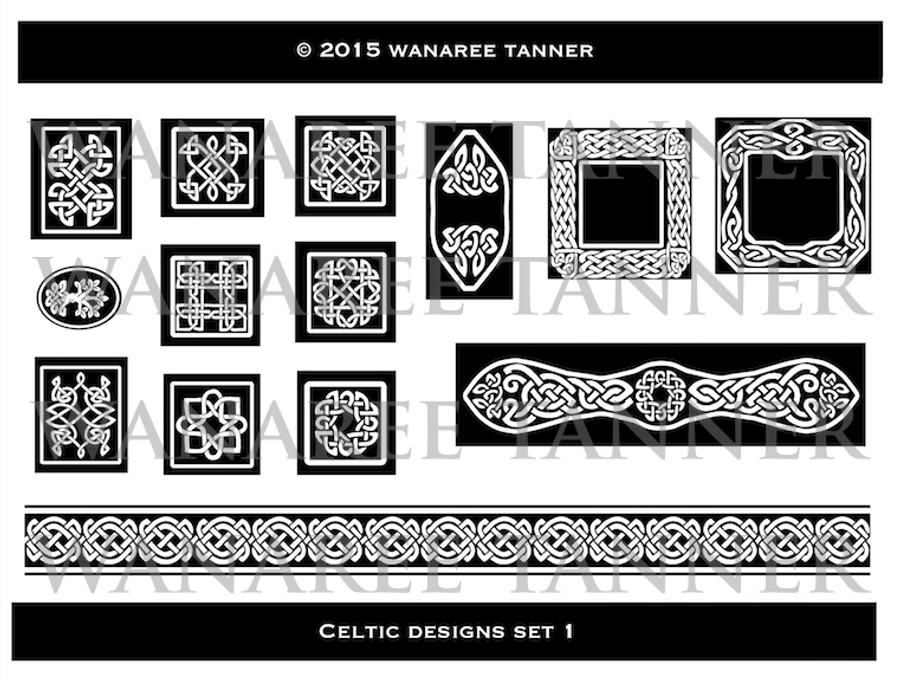 Wanaree Tanner Signature Texture Plate - Trinity Tree of Life (Celtic 1)