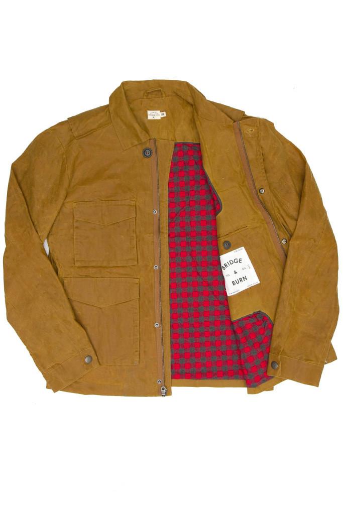 Adams Waxed Coat Brown