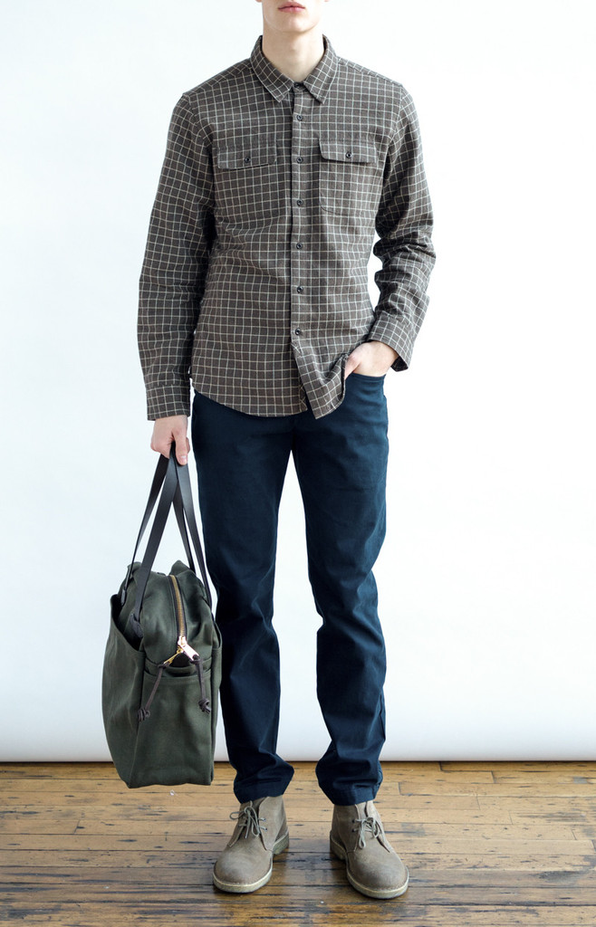 Franklin Brown Grid Shirt