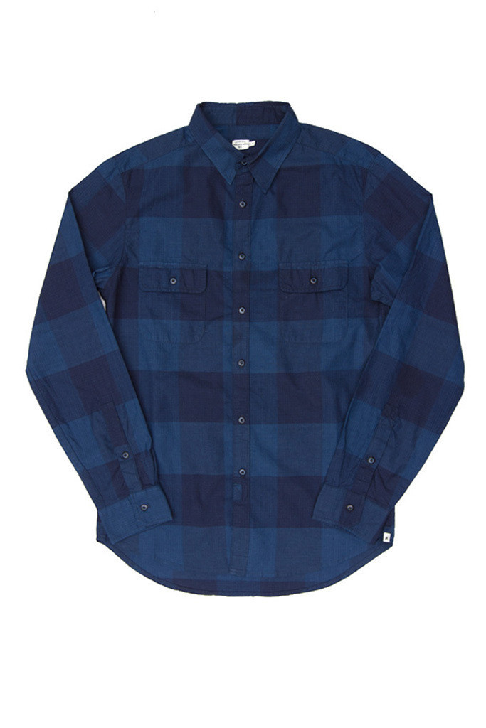 Franklin Indigo Plaid Shirt