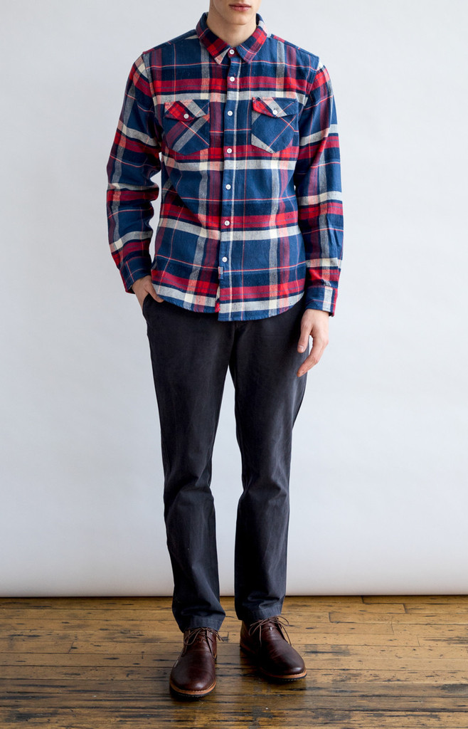 Hunter Indigo Plaid Shirt