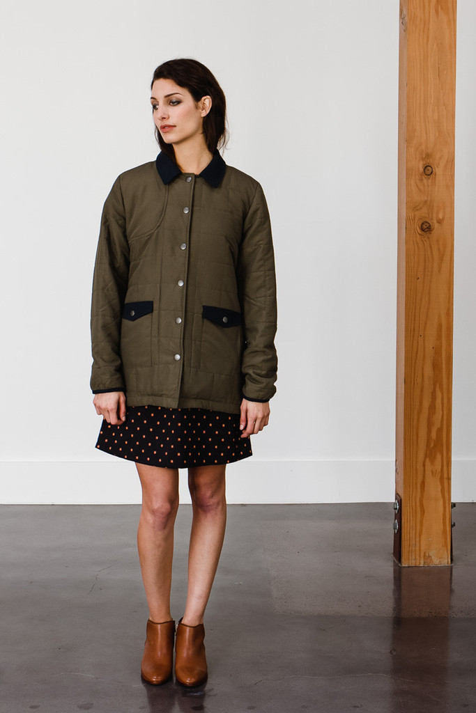 Mayfield Olive Quilted Jacket
