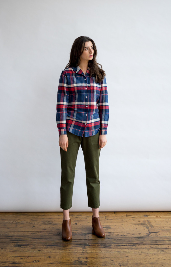 Paige Indigo Plaid Shirt