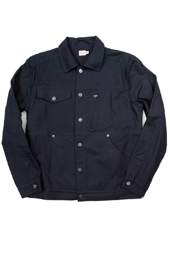 Knoll Navy Canvas Jacket
