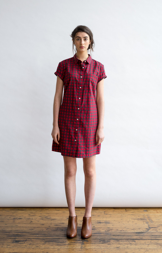 Loren Red Gingham Tunic