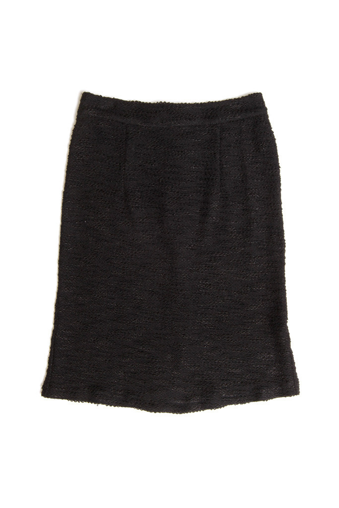Edith Black Pencil Skirt