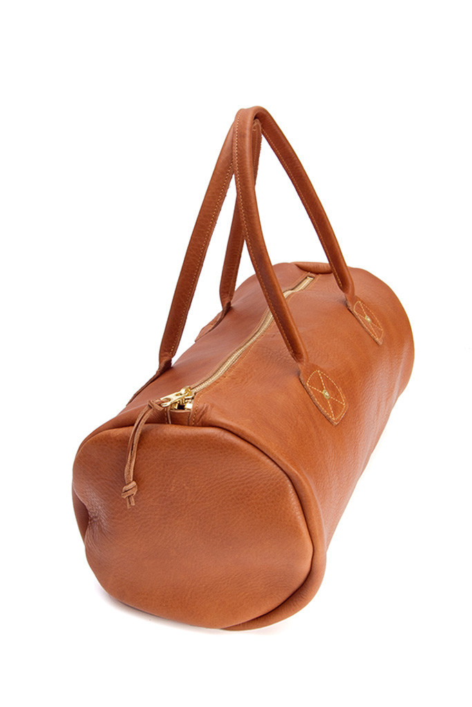 Wood & Faulk Leather Duffel