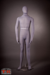 Male Mannequin, Flexible Posable Full-size In Grey