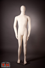 Male Mannequin, Flexible Posable Full-size In Beige/White