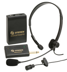 Steren/VoiceBooster Wireless Headset/Tie-Clip Microphone Kit