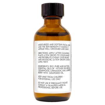 2 oz Beard Oil GreenHealth back label