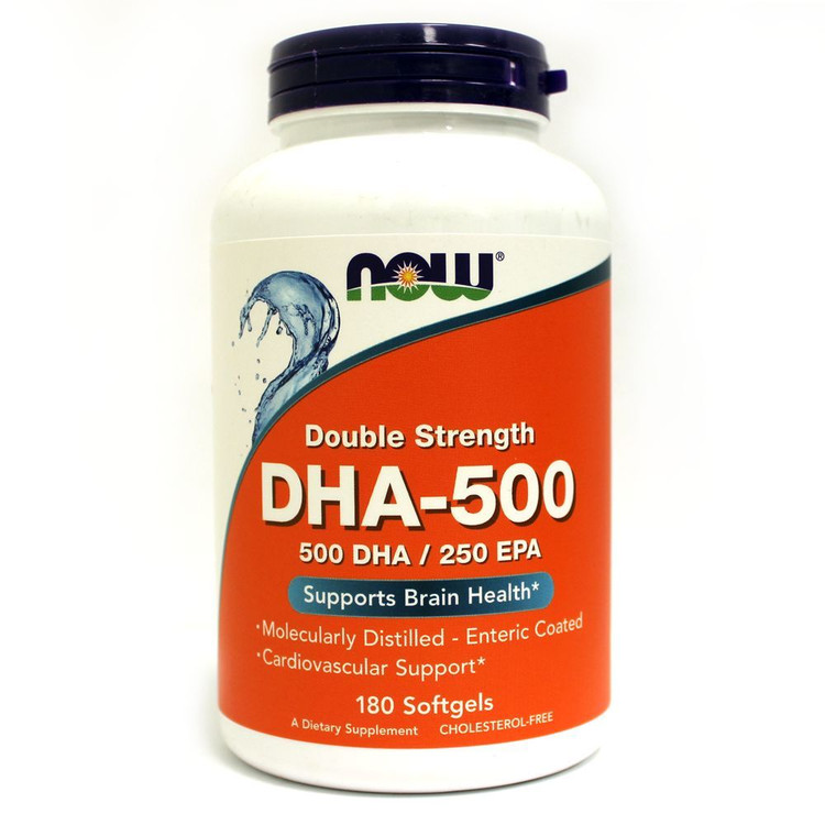 DHA-500 (180 Sgels) - NOW Foods