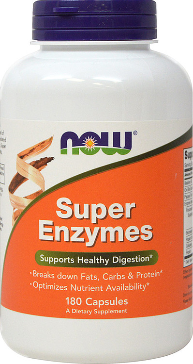 Super Enzymes 180 Capsules - NOW Foods