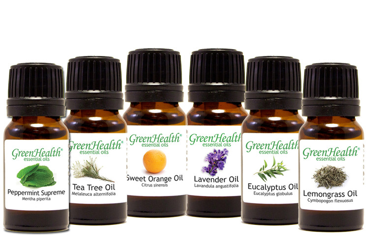 GreenHealth Top 6 Essential Oil Gift Set  (6 10ml Essential Oils)