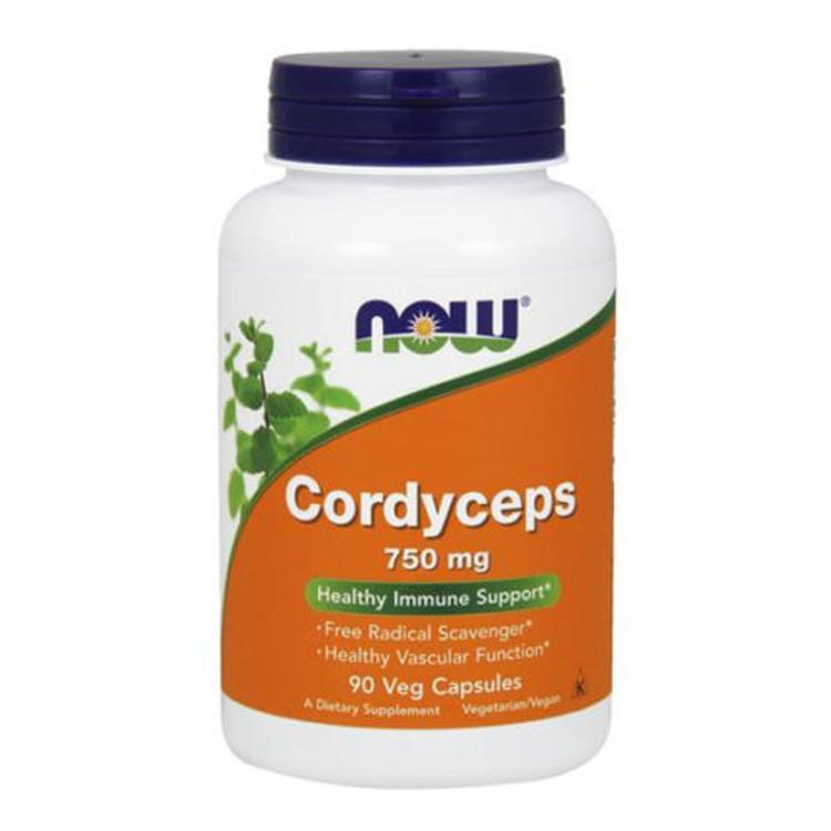 Cordyceps, 750mg 90 Veg-Capsules - NOW Foods