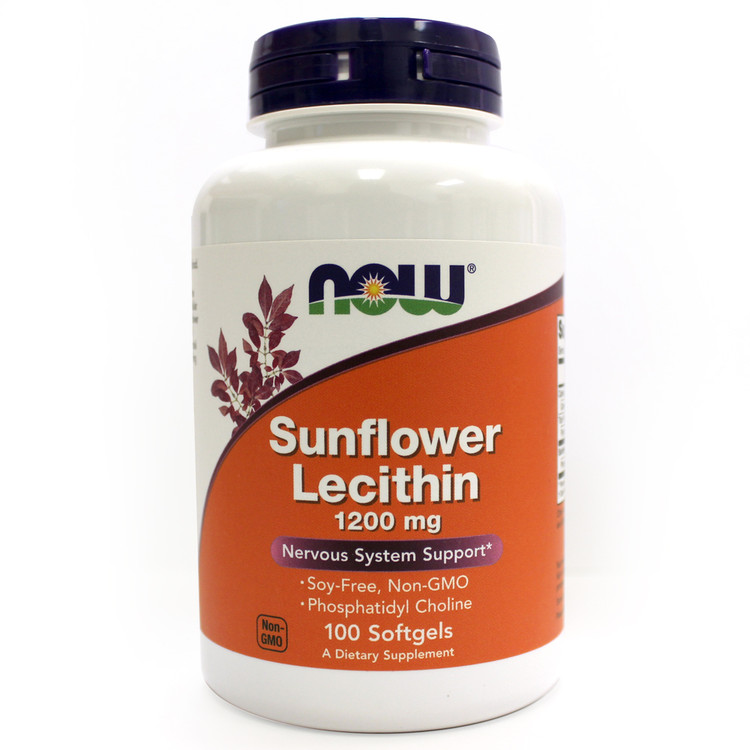 Sunflower Lecithin Non GMO, 1200mg, 100 Softgels - NOW Foods